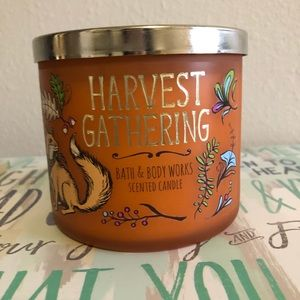Harvest gathering bath and body works candle